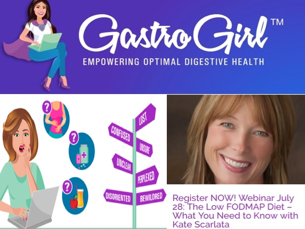 Register NOW: Low FODMAP Elimination Basics and Reintroduction Specifics Webinar with Kate Scarlata, RDN